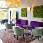 Moospaneele im Lobbybereich des Strandhotels in Heringsdorf